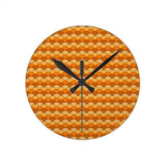 Japanese Fish Scale Pattern Wall Clock
