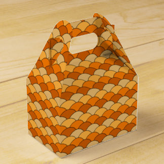 Japanese Fish Scale Pattern Wedding Favour Boxes
