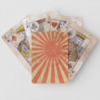 Japanese Flag Artistic Retro Card Bicycle Poker Deck