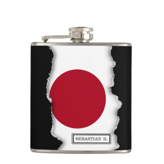 Japanese Flag Hip Flask
