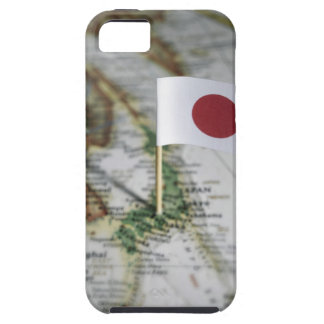 Japanese flag in map tough iPhone 5 case
