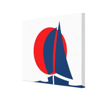 Japanese Flag Sailing Yacht Nautical Japan Canvas Prints