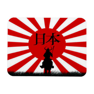 Japanese Flag & Samurai Warrior Nippon Magnet