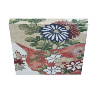 Japanese Floral Stretched Canvas Prints