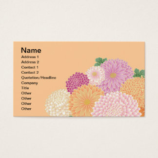Japanese Floral Kimono Pattern Fine Art Business Card