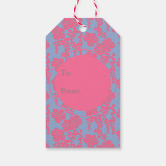 Japanese Floral Print - Pink & Purple Gift Tags