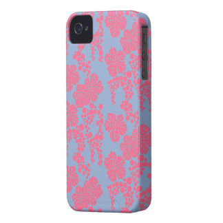 Japanese Floral Print - Pink & Purple Phone Case