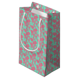 Japanese Floral Print Small Gift Bag