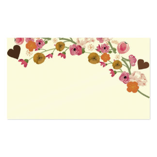 Japanese flowers and hearts Business Card
