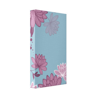 Japanese Flowers Gallery Wrapped Canvas