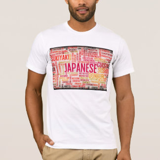 Japanese Food and Cuisine Menu Background T-Shirt