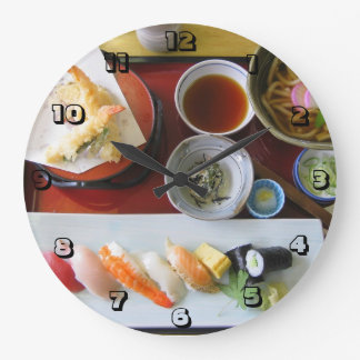 Japanese Food Large Clock
