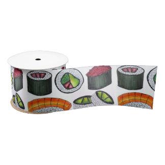 Japanese Food Sushi California Tuna Rolls Ribbon Satin Ribbon