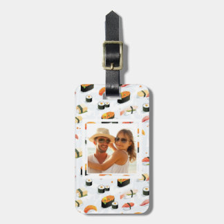 Japanese Food | Sushi Pattern | Add Your Photo Luggage Tag