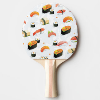 Japanese Food: Sushi Pattern Ping Pong Paddle