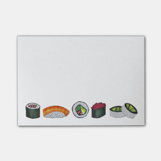 Japanese Food Sushi Roll Rolls Foodie Post Its Post-it Notes