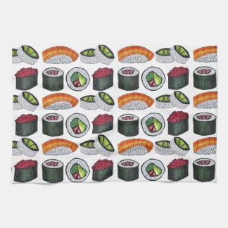 Japanese Food Sushi Tuna Roll Salmon Nigiri Foodie Tea Towel