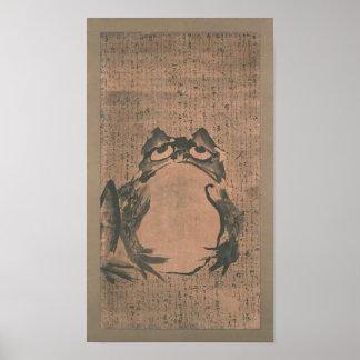 Japanese Frog Art Print