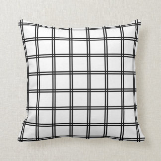 Japanese Futasuji Pattern White Throw Pillow