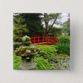 Japanese Garden 15 Cm Square Badge