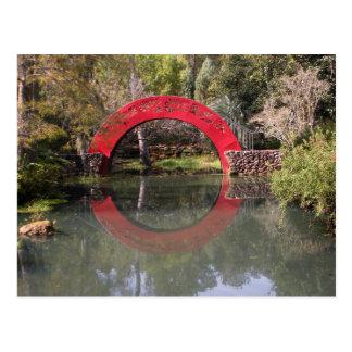 Japanese Garden Bridge Postcard