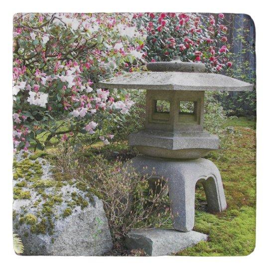 Japanese Garden Lantern Photo Trivet