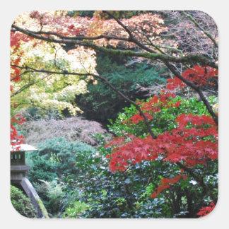 Japanese Garden Square Sticker