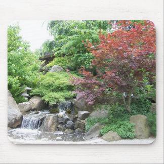 Japanese Garden Waterfall mousepad