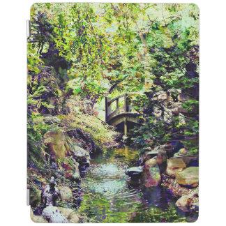 Japanese Garden With Bridge and Stream iPad Cover