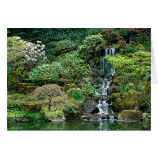 Japanese Gardens Portland, Oregon Greeting Card