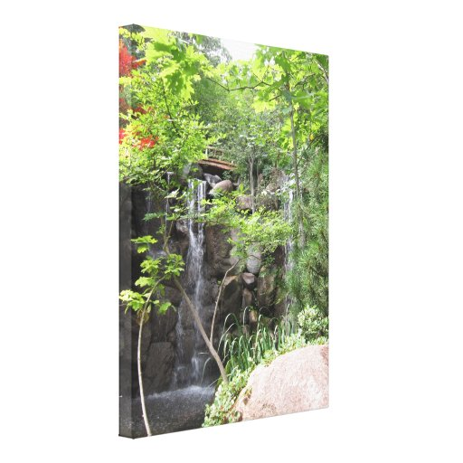 Japanese Gardens, Rockford IL Stretched Canvas Prints