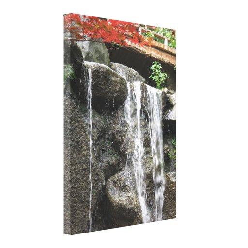 Japanese Gardens, Rockford IL Stretched Canvas Print