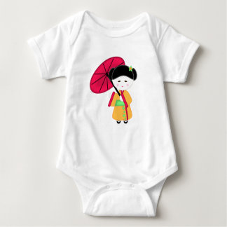 Japanese Geisha Girl Baby Bodysuit
