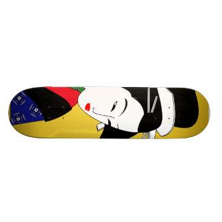 Japanese Geisha Girl Skate Board