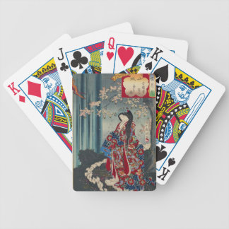 Japanese Geisha Lady Japan Art Cool Classic Bicycle Playing Cards