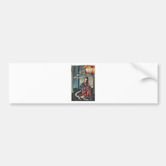 Japanese Geisha Lady Japan Art Cool Classic Bumper Sticker
