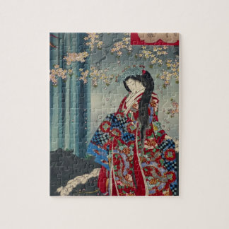 Japanese Geisha Lady Japan Art Cool Classic Jigsaw Puzzle