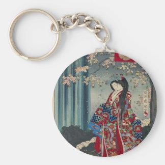 Japanese Geisha Lady Japan Art Cool Classic Key Ring