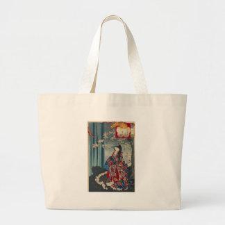 Japanese Geisha Lady Japan Art Cool Classic Large Tote Bag
