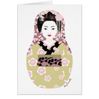 Japanese Geisha Matryoshka Card