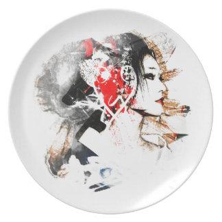 Japanese Geisha Plate