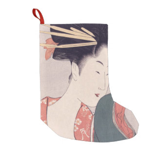 Japanese Geisha Small Christmas Stocking