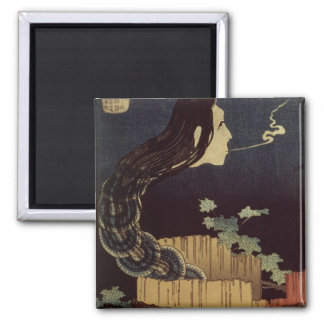 Japanese Ghost Square Magnet