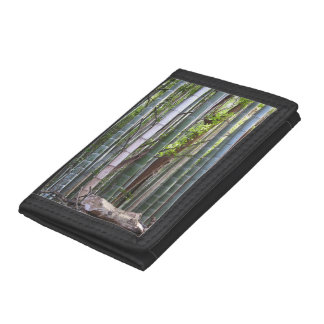 Japanese Giant Bamboo Forest, Sagano, Kyoto, Japan Trifold Wallets