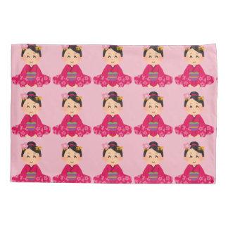 Japanese girl pillowcase