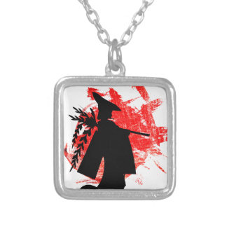 Japanese Girl Silver Plated Necklace