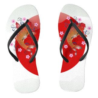 Japanese glossy flag koi carp thongs