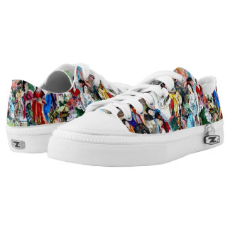 Japanese Goddess Custom Zipz Low Top Kickers