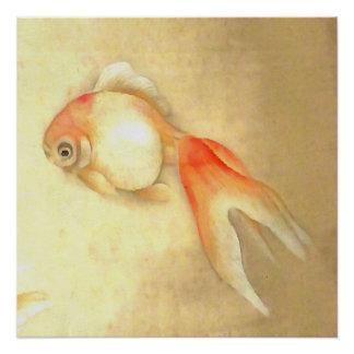 Japanese Goldfish Poster