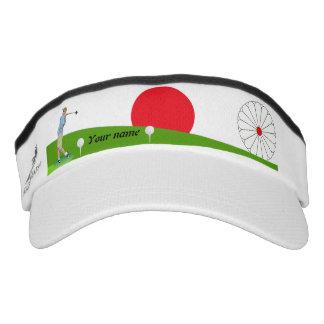Japanese golfer visor